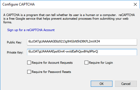 How to create and integrate a reCAPTCHA – Cerberus Support